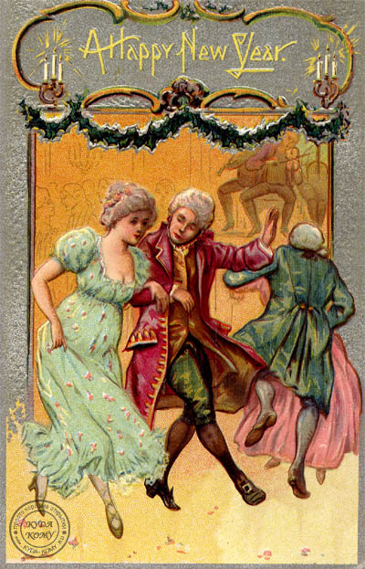 Иностранная открытка A HAPPY NEW YEAR