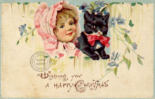 Красивая стариннная открытка