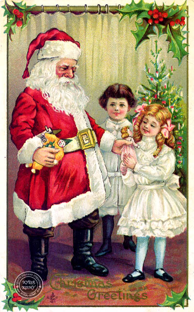 старинные новогодние открытки картинки